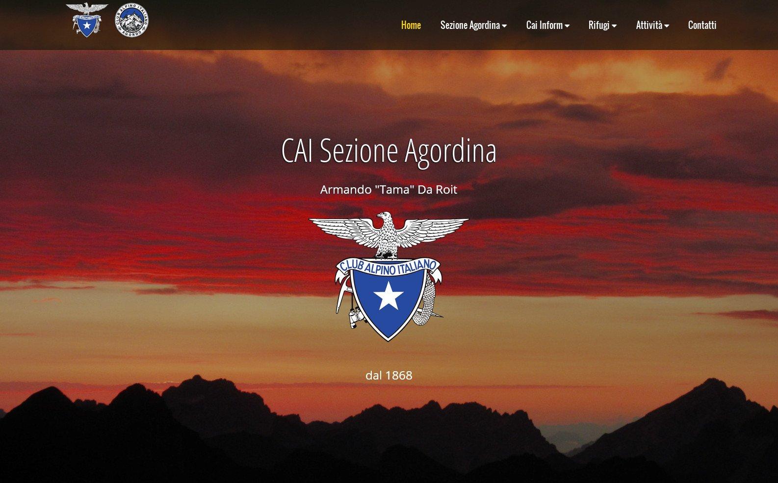 Nuovo sito per la Sezione Agordina del CAI