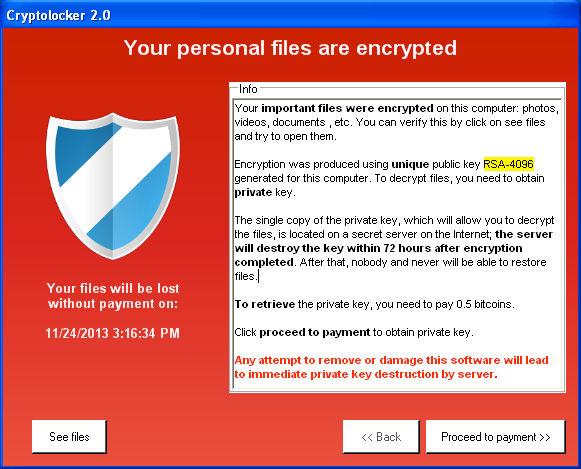Difendersi da CryptoLocker e varianti