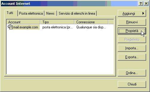 Configurare client posta in modalità IMAP