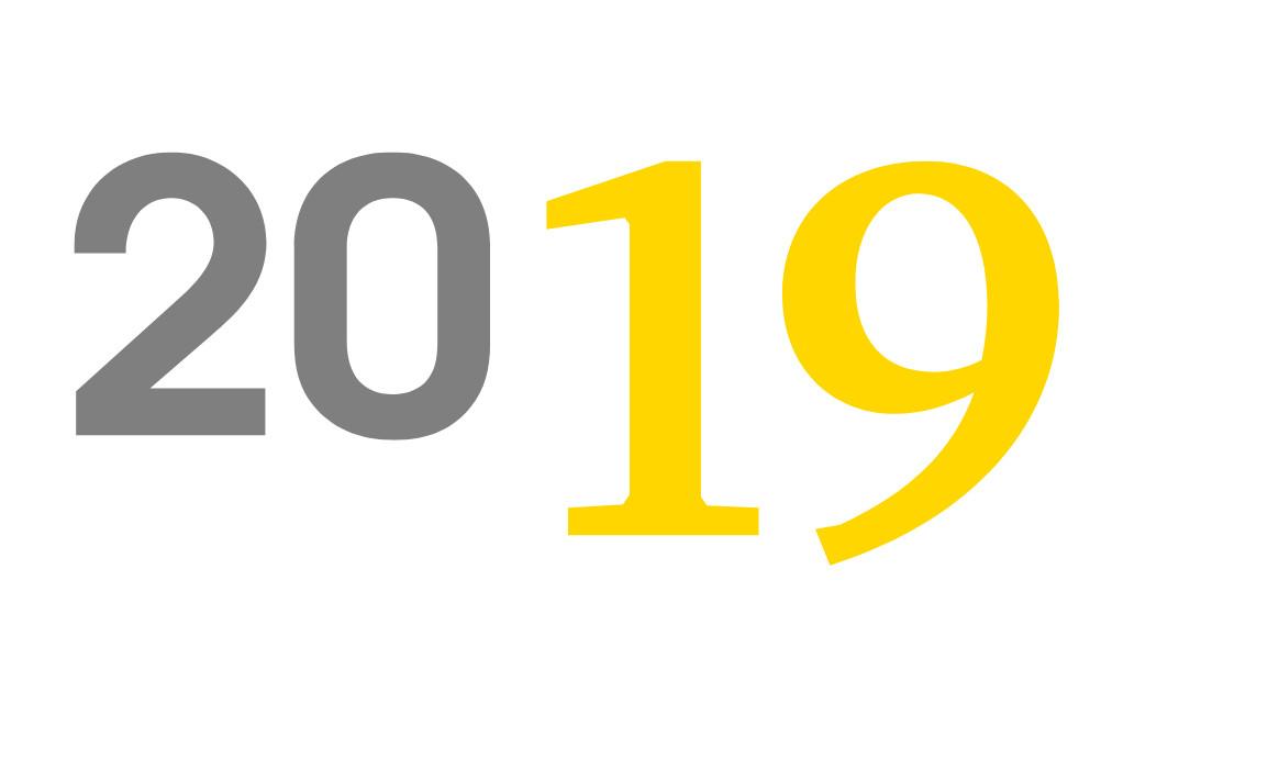 Calendario 2019 con schema di backup