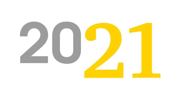 Calendario 2021 con schema di backup