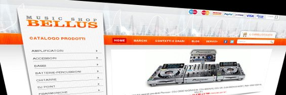 Bellus Music Shop - nuova veste grafica sito