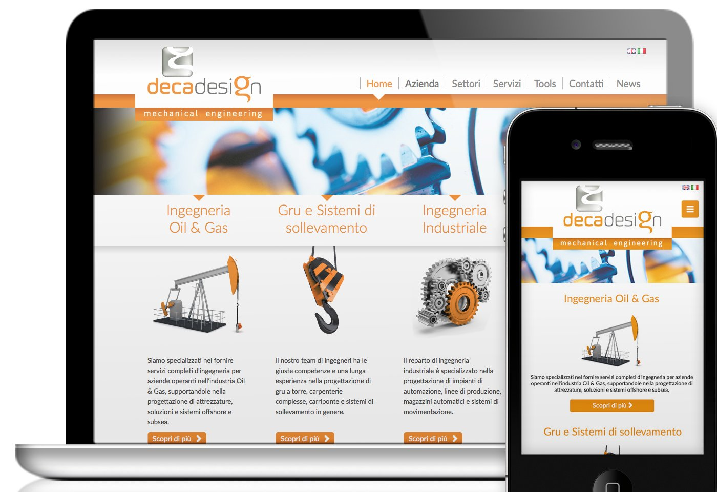 Sito Decadesign mobile-friendly