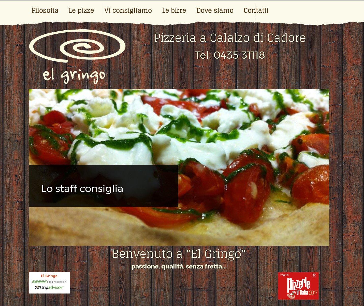 Sito web Pizzeria El Gringo