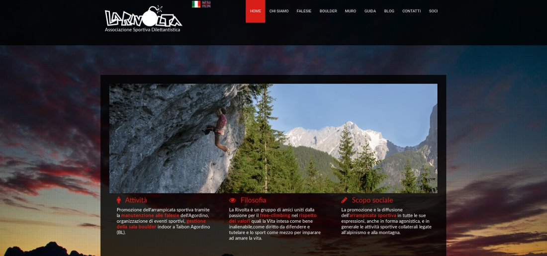 Pubblicato il nuovo sito dell'ASD La Rivolta