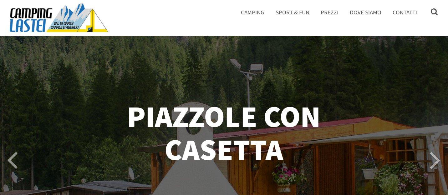Nuovo sito web per il Camping Lastei