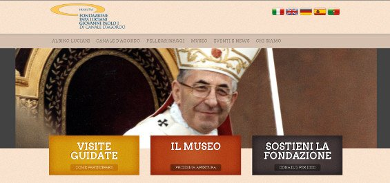 Nuovo sito Fondazione Papa Luciani