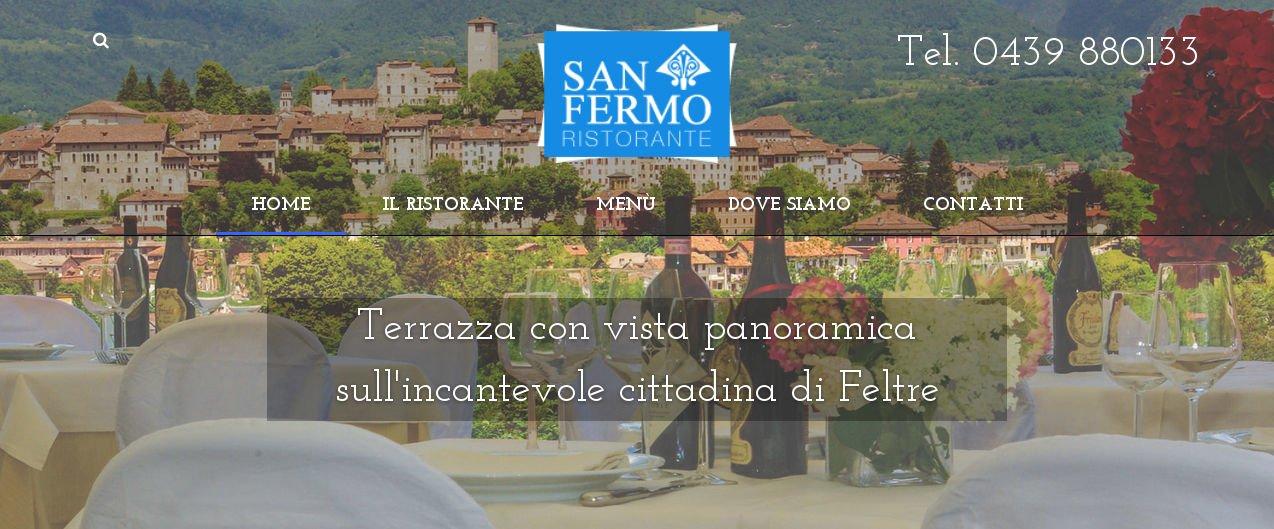 Nuovo sito web Ristorante San Fermo - Feltre
