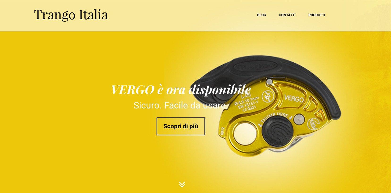 Nuovo sito e-commerce Trango Italia