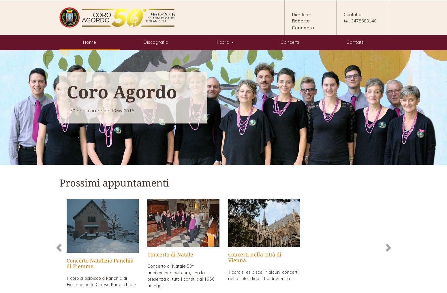 Nuovo sito web Coro Agordo