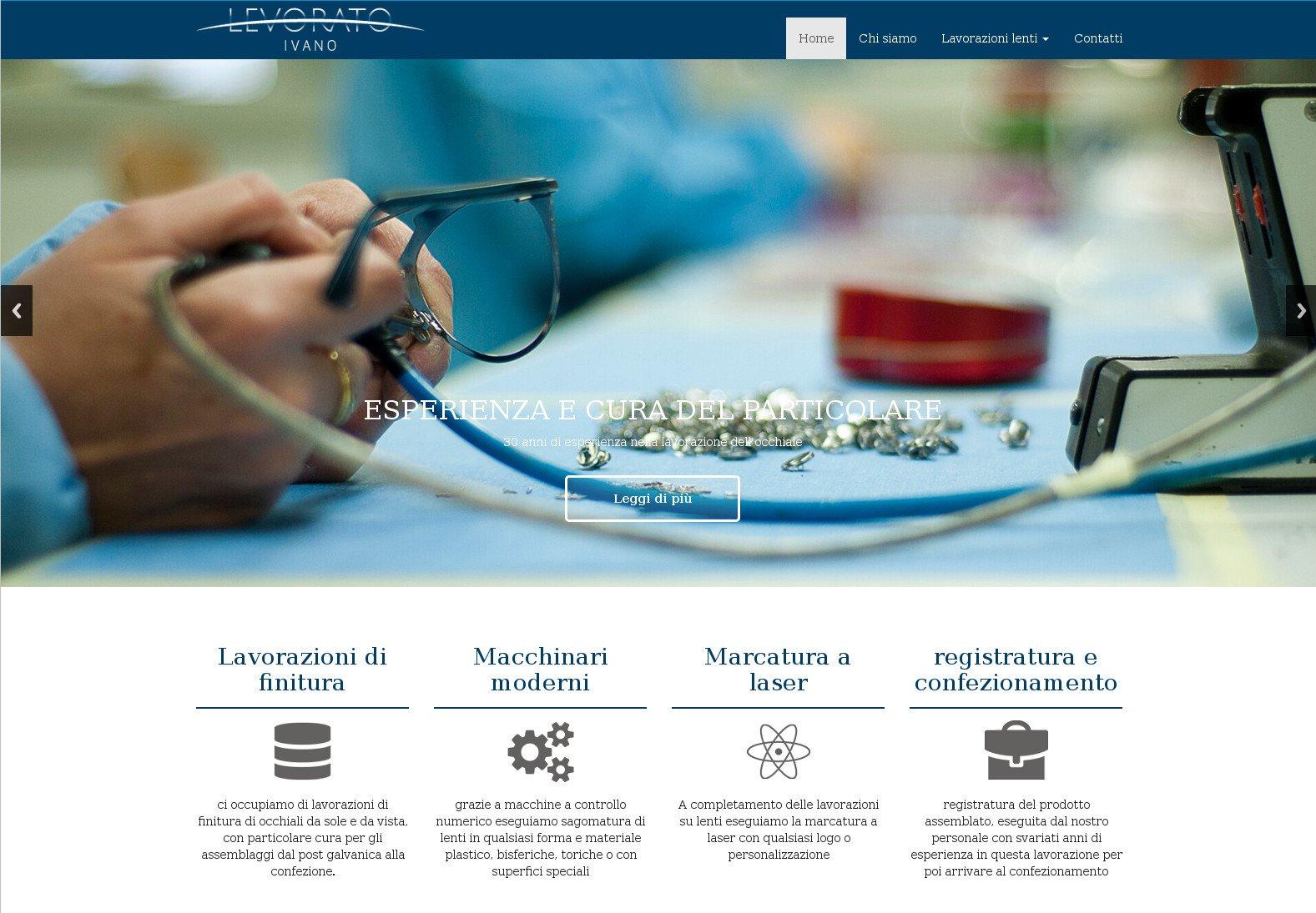 Realizzato il sito web di Levorato Ivano