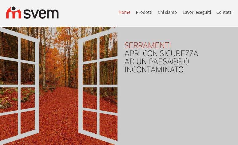 Realizzato il nuovo sito web aziendale di SVEM